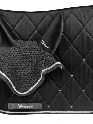 SC072 Saddle Pad+Fly Veil (Black)